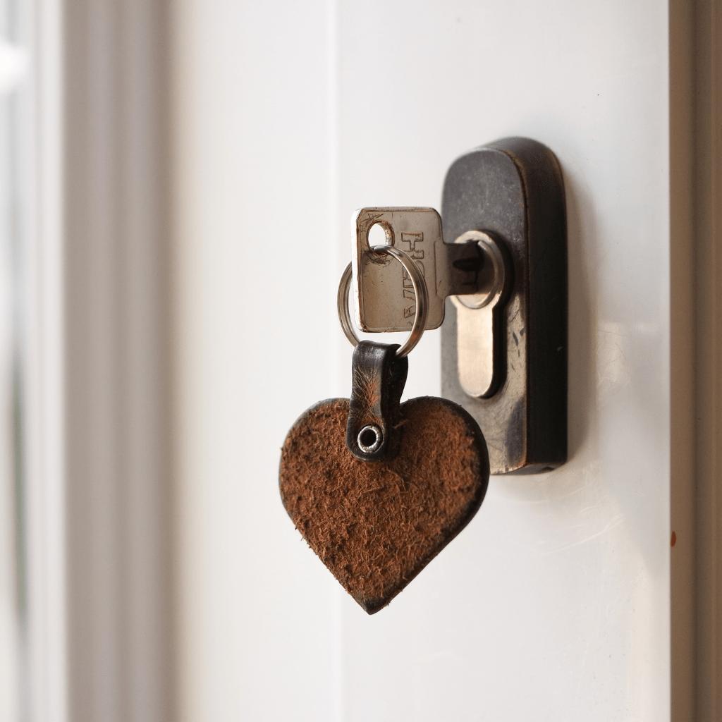 Sleutel op de deur