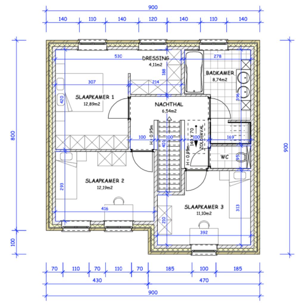 nieuwbouw dessel pastorie verdieping
